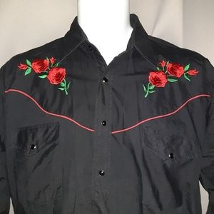 Ely Diamond Rose Embroidered long Sleeve